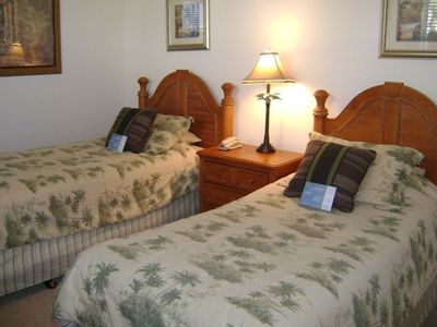 This Guest Room Has Two Twin Beds and Separate Guest Bathroom.