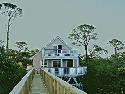 New boardwalk showing privacy of house