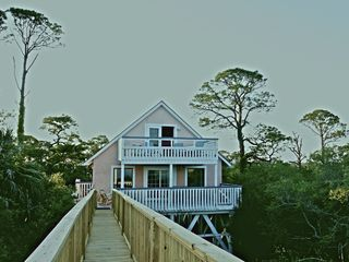Indian Pass house photo - New boardwalk showing privacy of house