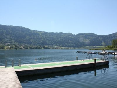 Apartment with lake views right on Ossiacher lake with a beach, indoor swimming pool