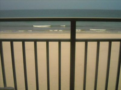 Here's your view of the ocean from the balcony!
