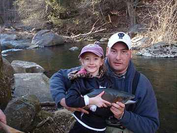 Asheville house rental - Come and catch fish and hang out by the river steps from the house.