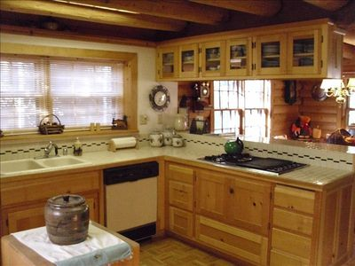 Where Everyone Hangs Out -The Kitchen/Dining Room - Dancing Bear Cabin