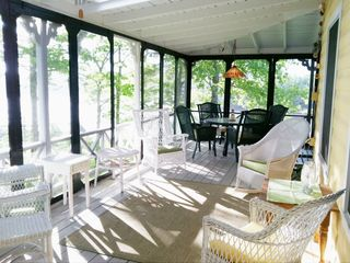 Harpswell cottage photo - Screened Porch: Dine al fresco or relax and watch the boats go by . . .