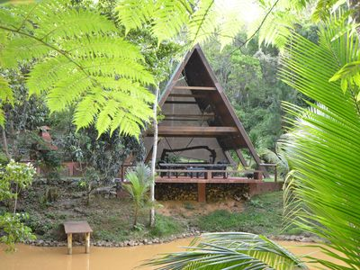 Boutique Inn. Luxury cabins in the Puerto Rican Rainforest. Cabin 2. King Bed