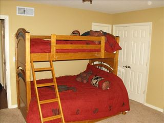 Angel Fire house photo - 3rd Bedroom - Sleeps 4 twin over full w/ trundle (lower level)