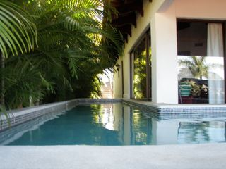 Playa Hermosa villa photo - Your own private pool. Stairs into the pool are on the far right, bench seating.