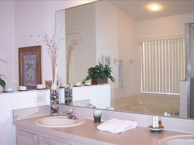 Master bath with garden tub and separate shower