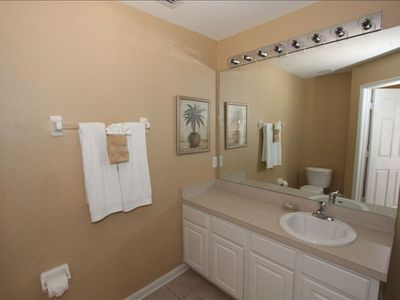 Large master bathroom with full size tub and shower -ensuite to King Master Bedr
