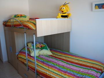triple bunks in bedroom 3