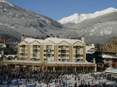 The Carleton Lodge - the BEST location in Whistler Village to catch ALL action