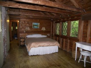 Lakeville cottage photo - Master Bedroom from Sleeping Porch