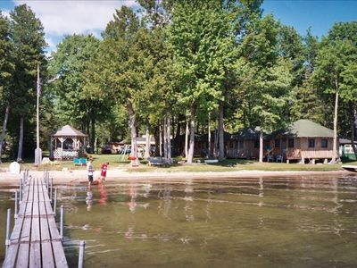Lake Leelanau cabin rental - our cabin's the 3rd back in the row of 4 that starts on right of this picture