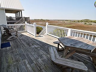 Surf City house photo - Sound front deck