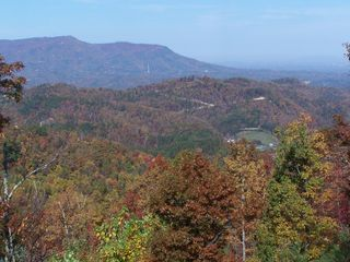 Sevierville chalet photo - Fall views of the cabin taken by a guest October 2012