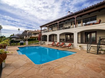 Santa Barbara house rental - The deck, pool, and hot tub combine to make lounging here a memorable experience.