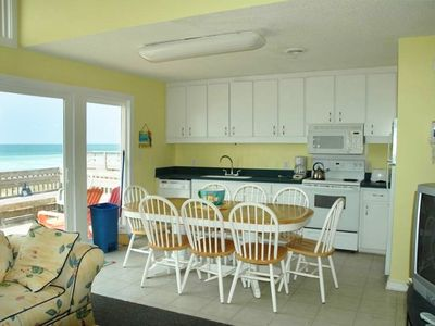 'KITCHEN WITH AWESOME VIEW OF OCEAN'