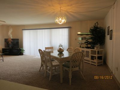 Indian Shores condo rental - Dining area with TV