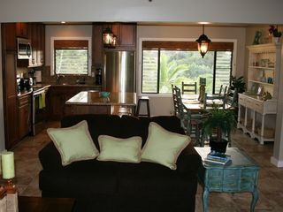 Princeville condo photo - View of kitchen, dining room, and partial view of living room