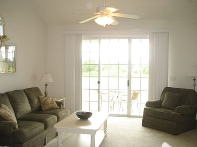 Living Room with Catherdal Ceilings - Taken 4/11