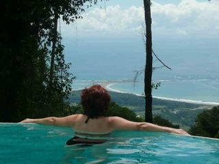 Uvita house photo - Infinity Edge Pool view of Marino Bellena National