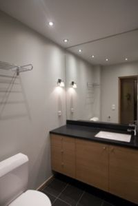Newly Renovated Bathroom Next to the Master Bedroom on the Lower Floor