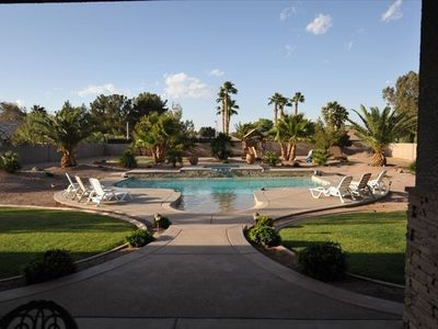 Tuscan Retreat Acre Estate with walk-in Beach Entry Pool and Hot Tub