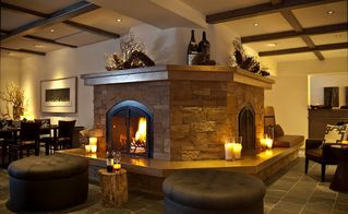 Sun Valley hotel photo - Our double-sided fireplace