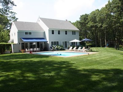 Private sunny east hampton home w heated pool tennis 4 for East hampton vacation rentals