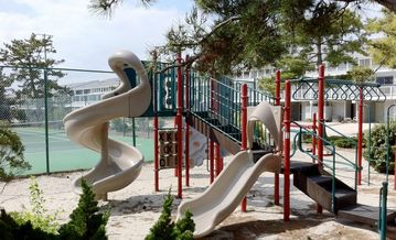 Large playground and swingset for the kids