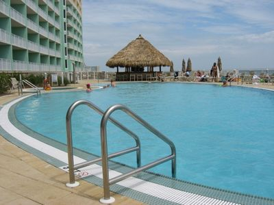 Emerald Beach Resort condo rental - Pool and Tiki Bar at Beach