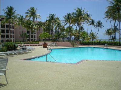 One of three swimming pools in Crescent Beach