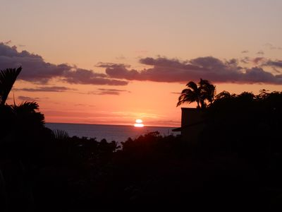 Sunset from our Lanai at 50B.