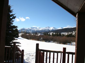 Breckenridge chalet rental - Winter -View From Deck