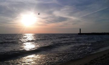 Beach/ Lake Michigan at sunset!