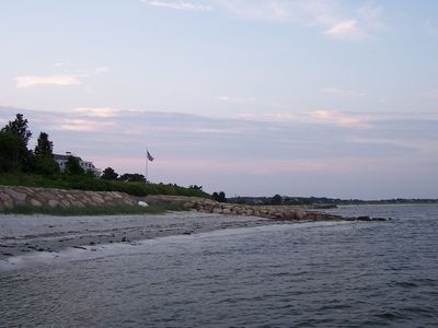 Osterville studio rental - looking toward Baby Beach....