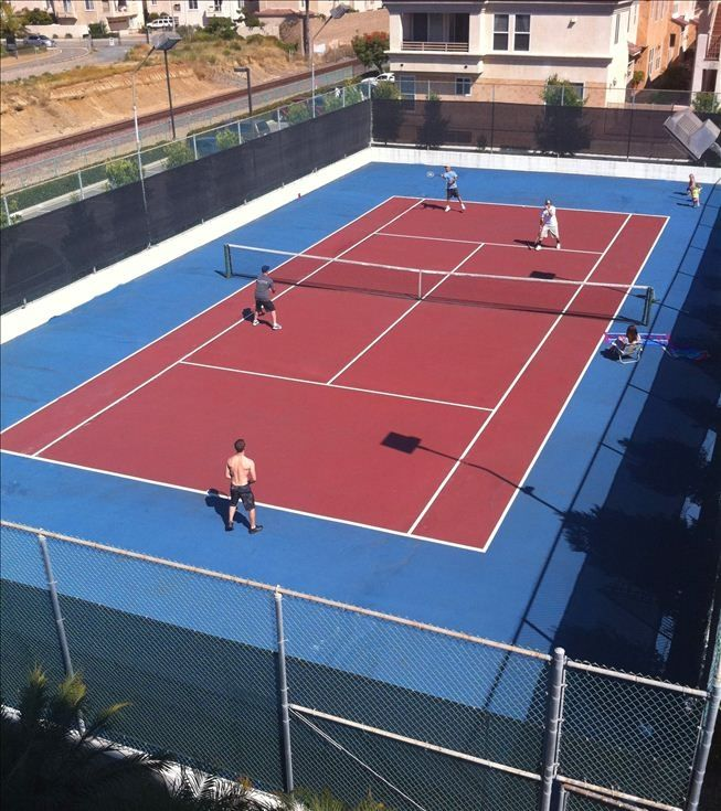 Get out your rackets to play some tennis in this private court. Rackets provided
