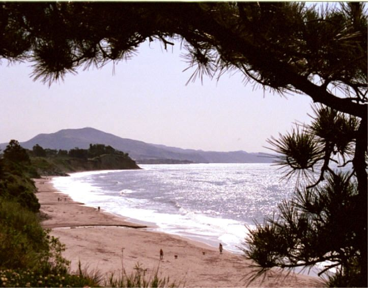 The beach is a short 1/4 mile walk from cottage.