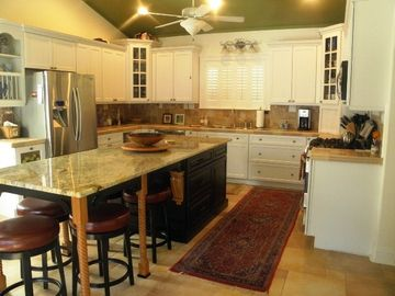 Cook's Kitchen - quality appliances, 3'x9' island with seating for five