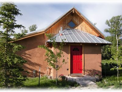 The Little River Guest house near Salida Colorado. Private driveway and entrance