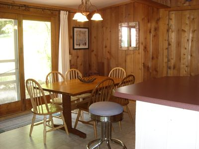 Dining table and snack bar