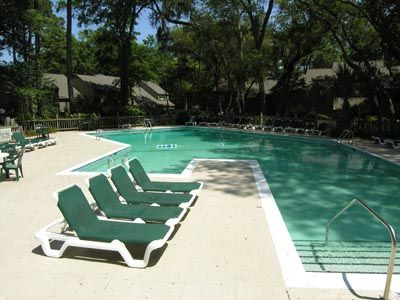 Ours is one of the largest Villa pools in Sea Pines
