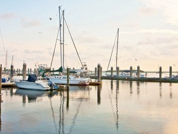 The shrimping boats pull into Fernandina harbor to sell their daily catch.
