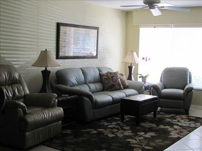 Living Room - leather furniture, 2 recliners