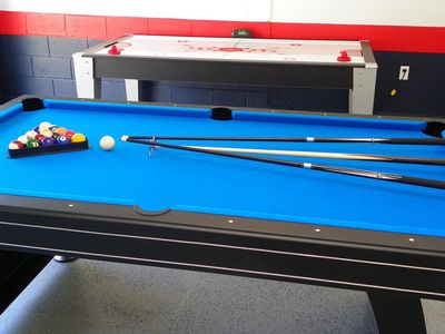 Play air hockey or pool.