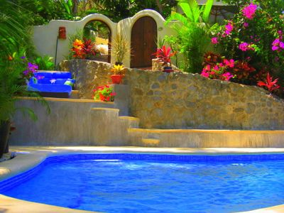 multi-level pool areas for privacy
