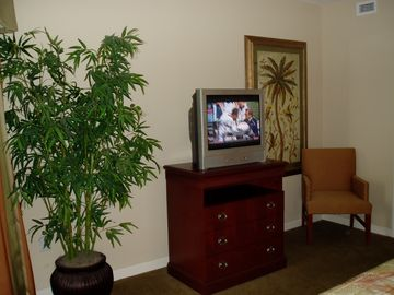 Dresser & large screen TV in 3rd Bedroom.