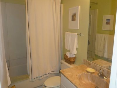 Two bathrooms offer our guests privacy and space. This is the guest bathroom.