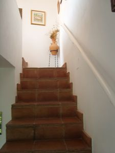 Stairway to casita and terrace