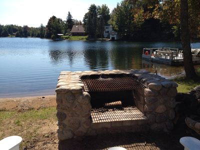 Star Lake house rental - have a fire in the evening and roast marshmallows